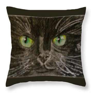 Halloween Black Cat I Throw Pillow