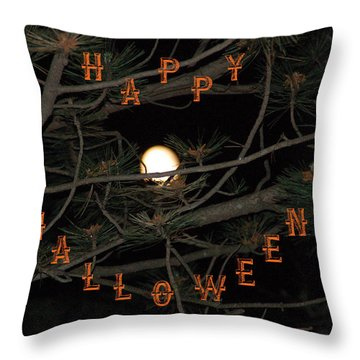 Halloween Card Throw Pillow