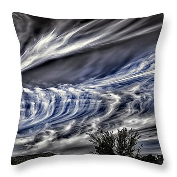 Halloween Clouds Throw Pillow by Walt Foegelle