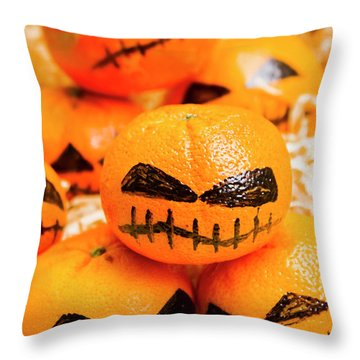 Halloween Craft Treats Throw Pillow