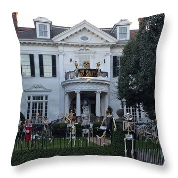 Halloween Decor New Orleans Style Throw Pillow
