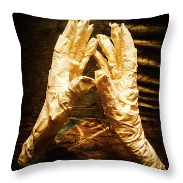 Halloween Fight Night Throw Pillow