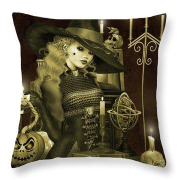 Halloween Graveyard-e Throw Pillow