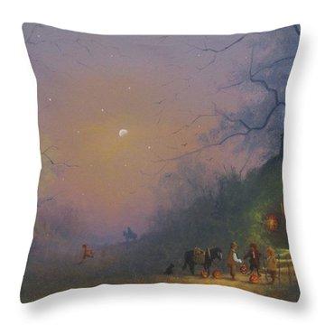 A Shire Halloween  Throw Pillow