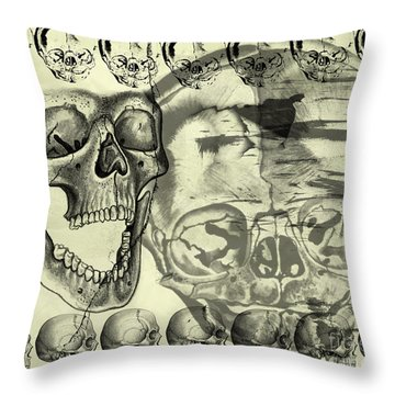 Halloween In Grunge Style Throw Pillow by Michal Boubin