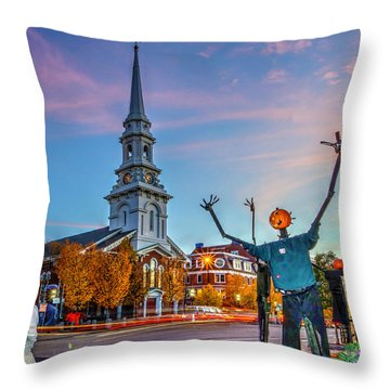 Halloween In Portsmouth 746 Throw Pillow