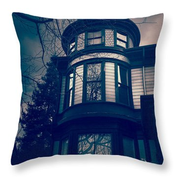 Halloween In The Park Throw Pillow