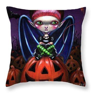 Halloween Little Devil Throw Pillow