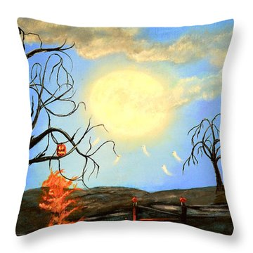 Halloween Night Two Throw Pillow