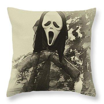 Halloween No 1 - The Scream  Throw Pillow