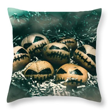 Halloween Picnic In The Dark Throw Pillow