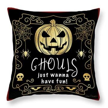 Halloween Sign 6 Throw Pillow
