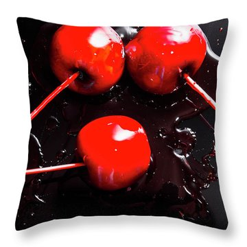 Halloween Toffee Apples Throw Pillow