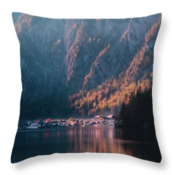 Hallstatt Fall Throw Pillow