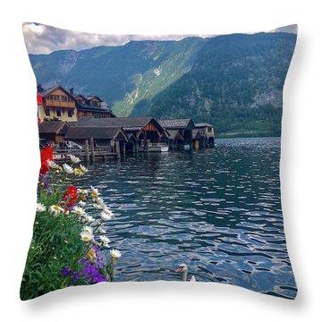 Hallstatt Swan Throw Pillow