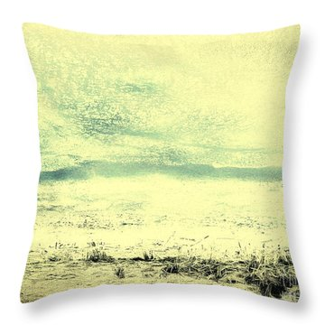 Hallucination On A Beach Throw Pillow