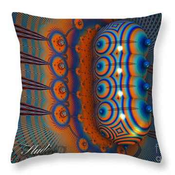 Hallucinogen Fractal Throw Pillow