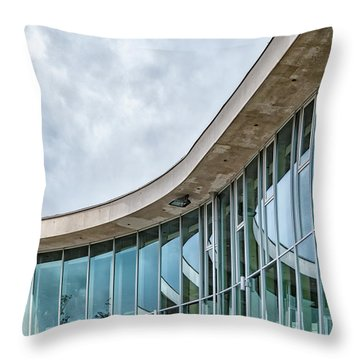 Throw Pillow featuring the photograph Halmstad University Labrary Detail by Antony McAulay