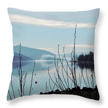 Halo On Copper Island Throw Pillow