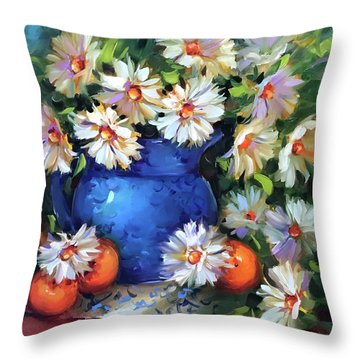 Halos And Daisies Throw Pillow