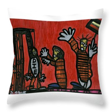 Halt The Execution Throw Pillow