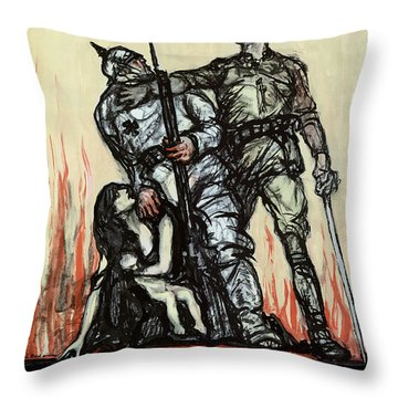 Halt The Hun - Ww1 Throw Pillow