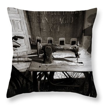 Halted Memories Throw Pillow