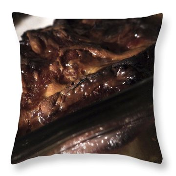 Ham And Potatoes Throw Pillow