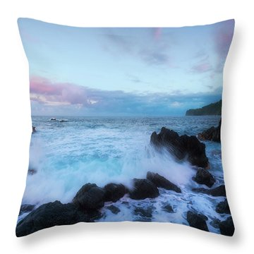 Throw Pillow featuring the photograph Hamakua Sunset by Ryan Manuel
