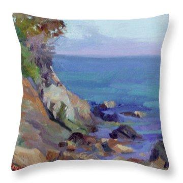Hamilton Cove Catalina Island Throw Pillow