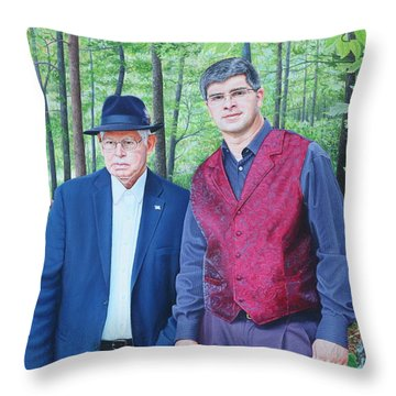 Throw Pillow featuring the painting Hamilton Portrait by Mike Ivey