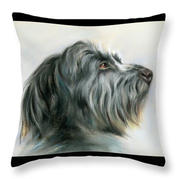 Hamish The Wolfhound Throw Pillow by MM Anderson
