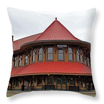 Hamlet Train Station Throw Pillow
