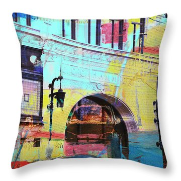 Throw Pillow featuring the photograph Hamm Building St. Paul by Susan Stone