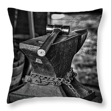 Hammer And Anvil Throw Pillow