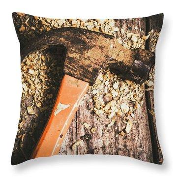 Hammer Details In Carpentry Throw Pillow