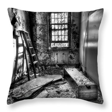 Hammer To Fall Throw Pillow by Evelina Kremsdorf