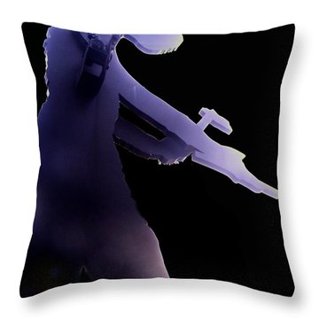 Hammering Man 2 Throw Pillow by Tim Allen