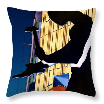 Hammering Man Throw Pillow by Tim Allen