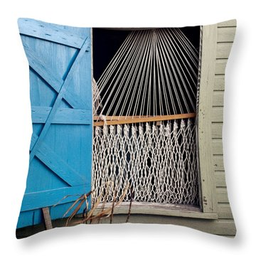 Hammock In Key West Window Throw Pillow
