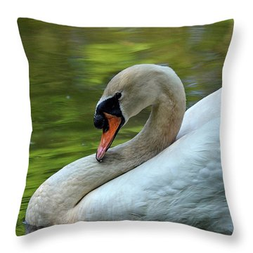 Hammy Swan Throw Pillow
