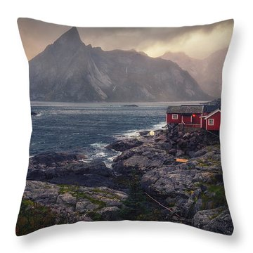 Hamnoy Throw Pillow