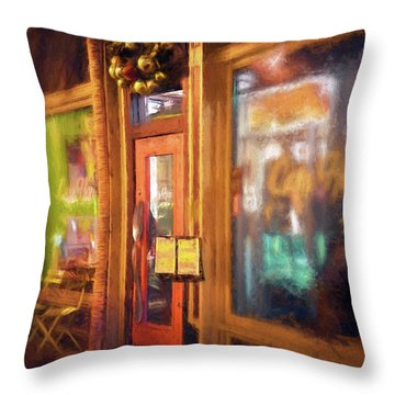 Hampden Cafe Throw Pillow
