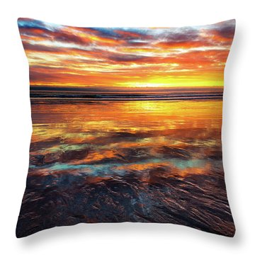 Hampton Beach Throw Pillow