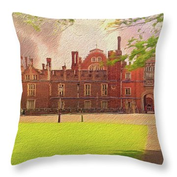 Hampton Court Palace Panorama Throw Pillow
