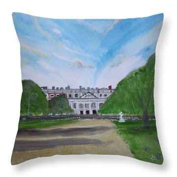 Hampton Court Palace Throw Pillow by Carole Robins