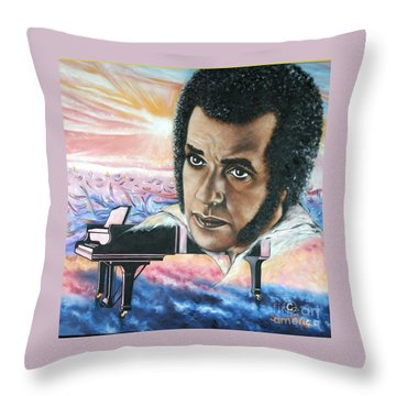 Blaa Kattproduksjoner       Hampton Hawes -jazz Pianist Throw Pillow