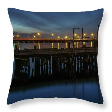 Hampton Roads Bridge Tunnel Throw Pillow