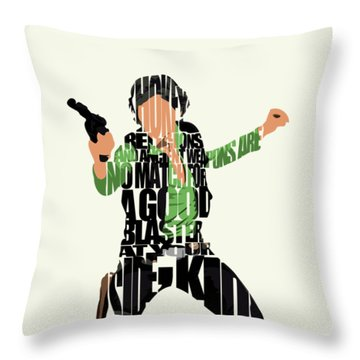 Han Solo From Star Wars Throw Pillow