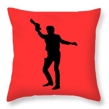 Throw Pillow featuring the digital art Han Solo Star Wars Tee by Edward Fielding